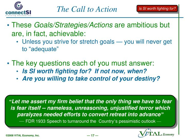 The Call to Action