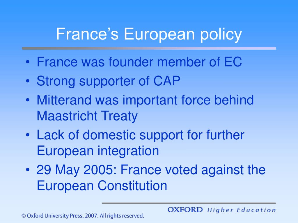 France's European policy