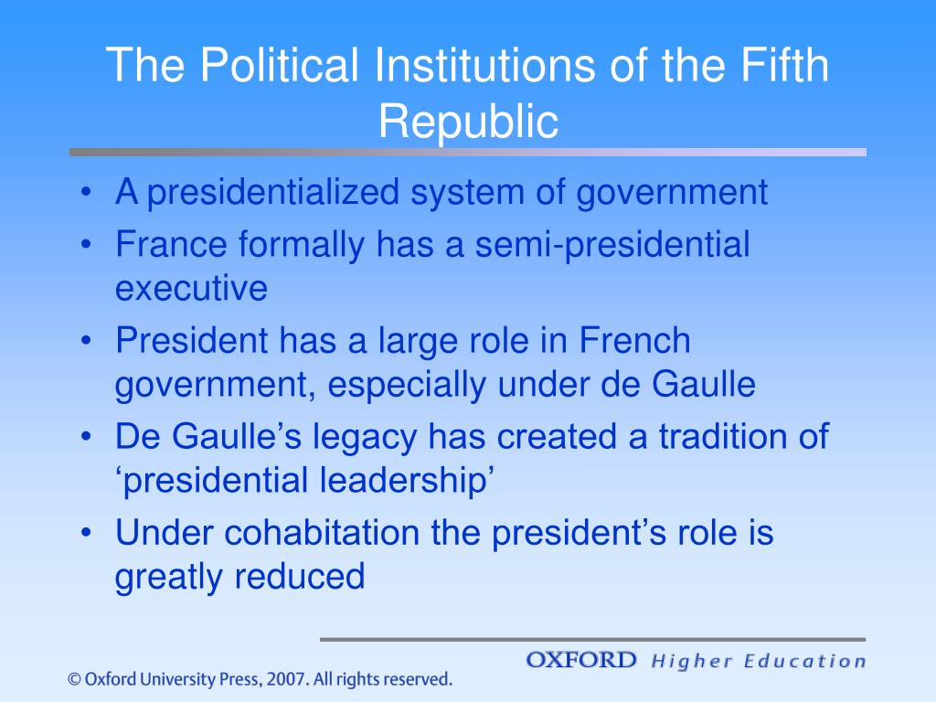 The Political Institutions of the Fifth Republic