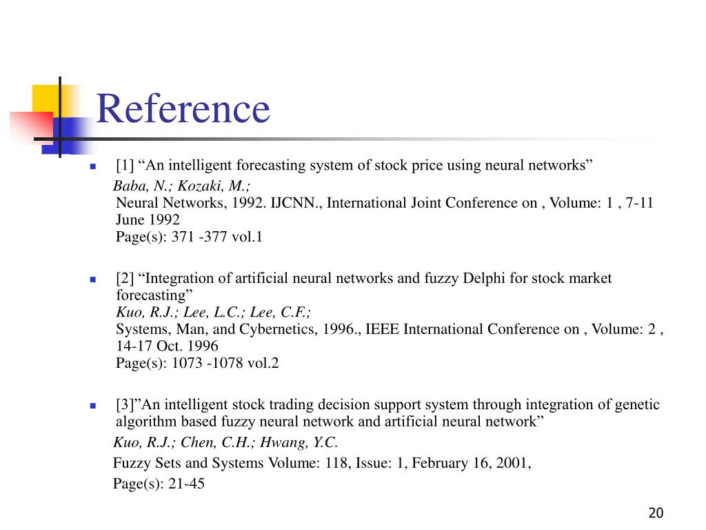 PPT - Integration of Neural Network and Fuzzy system for Stock Price