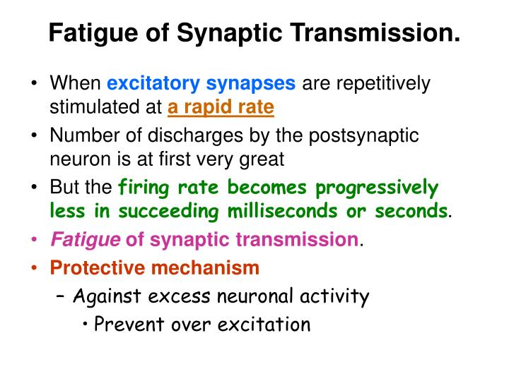 Fatigue of Synaptic Transmission.