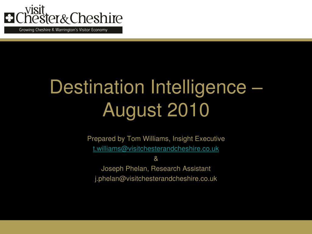 Destination Intelligence – August 2010