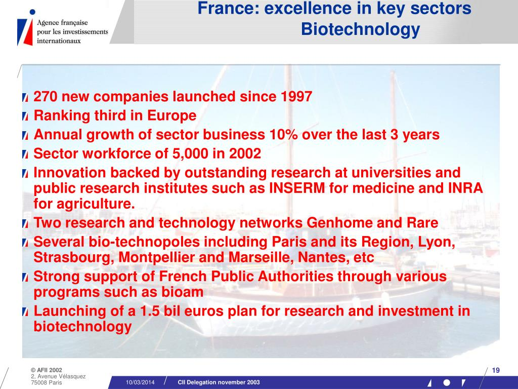 France: excellence in key sectors