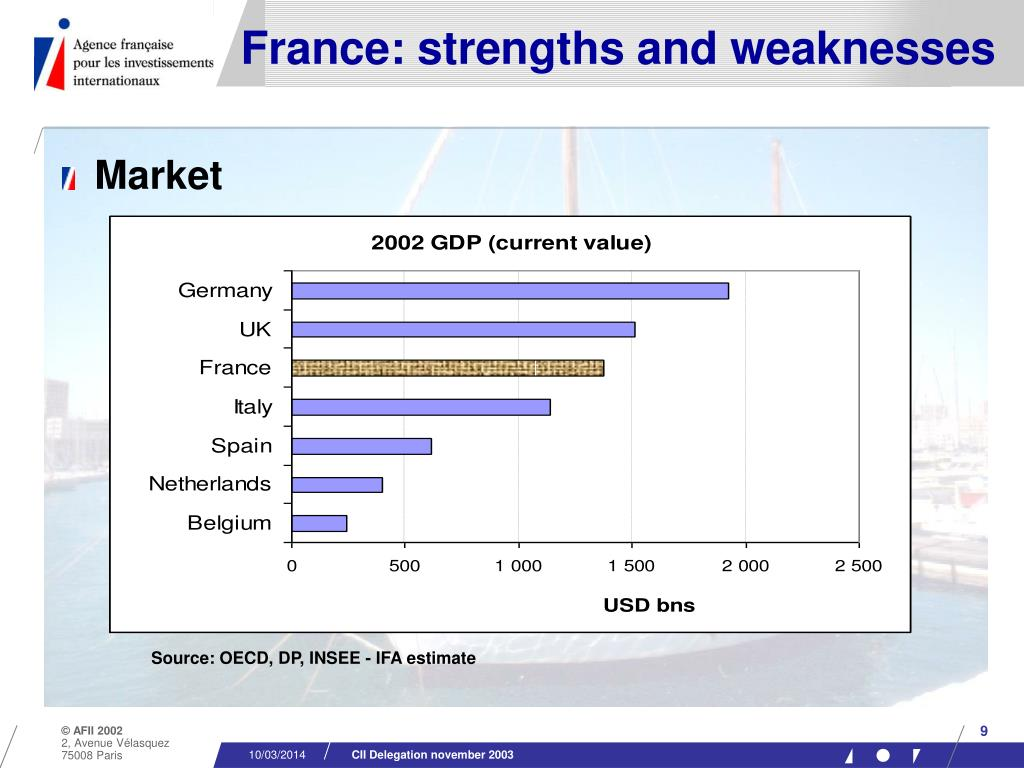 France: strengths and weaknesses