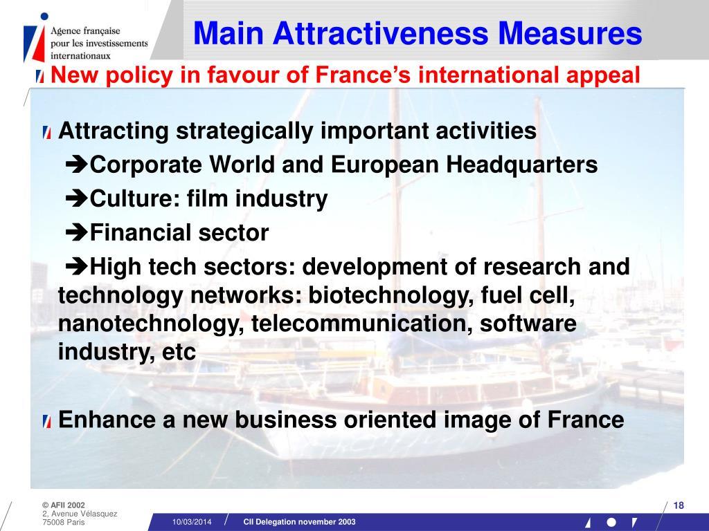 Main Attractiveness Measures