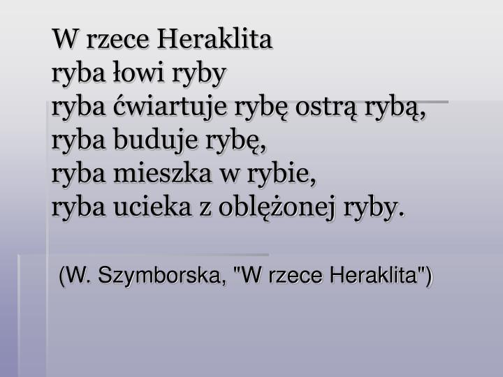 W rzece Heraklita