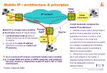 mobile ip architecture principles