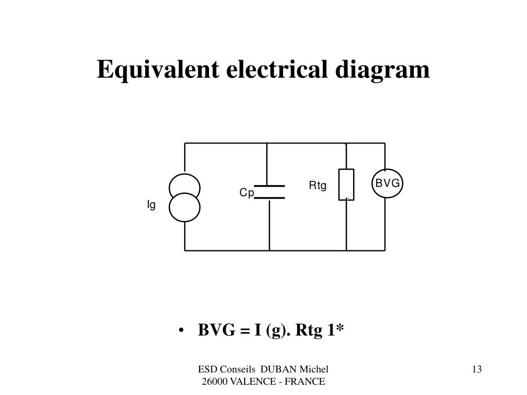 Equivalent electrical diagram