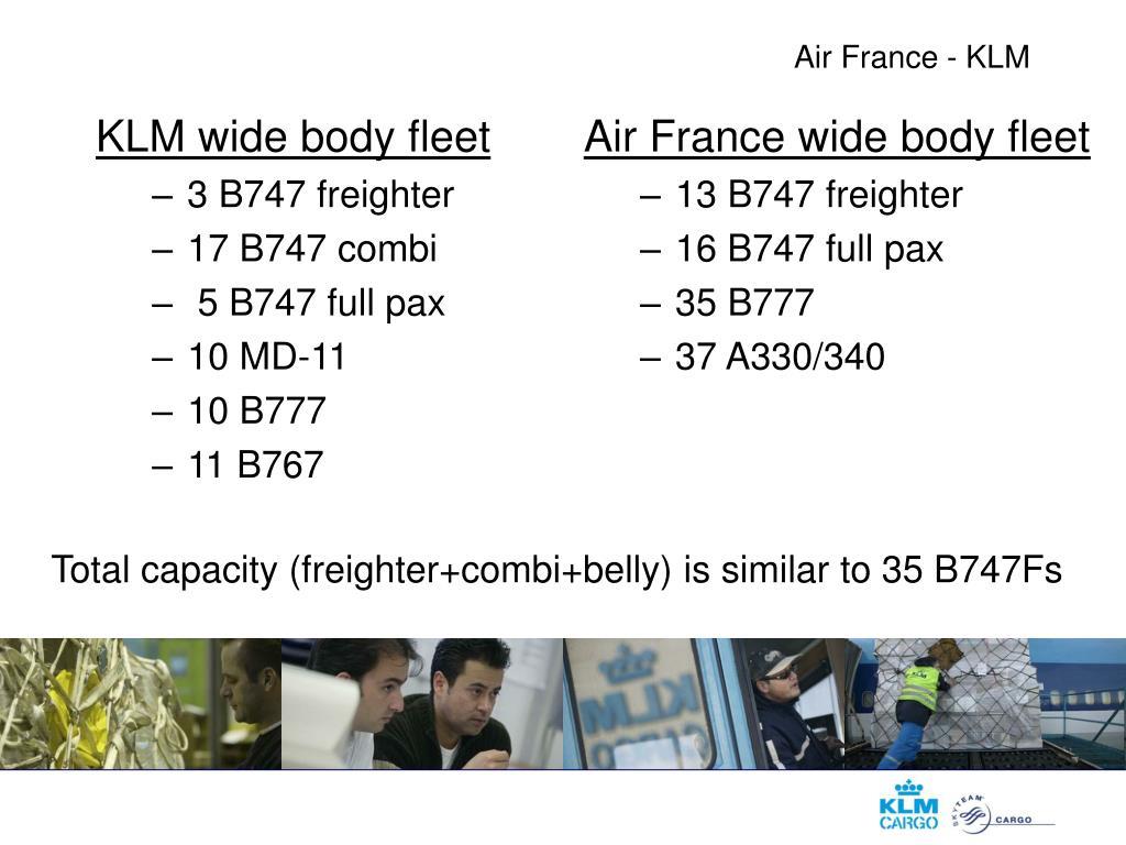 KLM wide body fleet