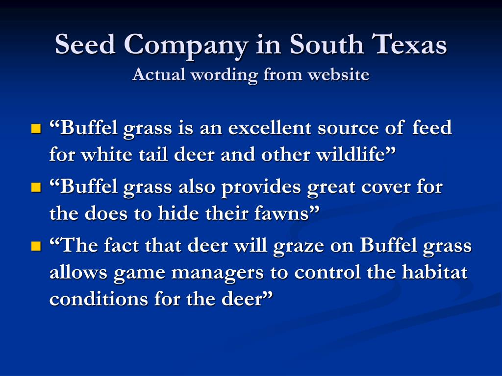 Seed Company in South Texas