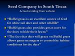 seed company in south texas actual wording from website