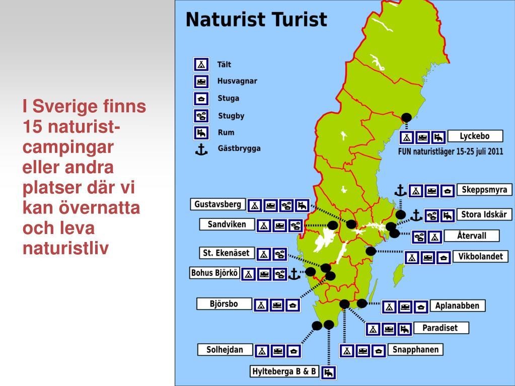 Naturistcampingar I Sverige
