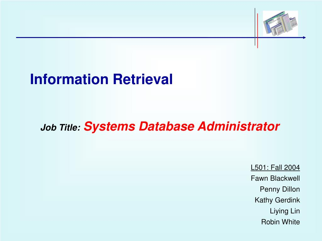 job title systems database administrator