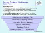 systems database administrator career paths