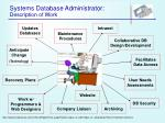 systems database administrator description of work