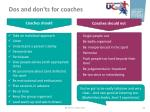 dos and don ts for coaches