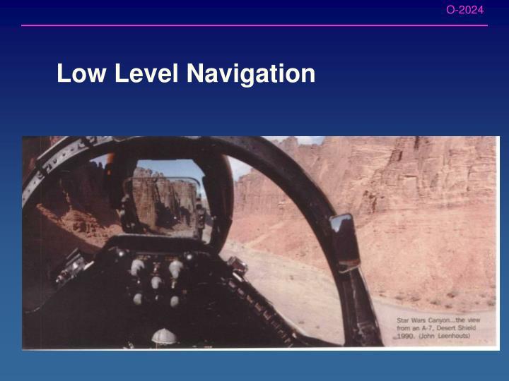 Low Level Navigation