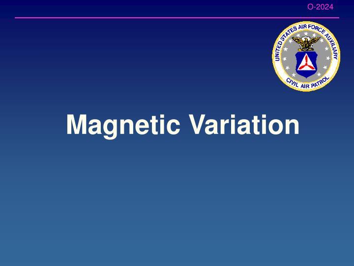 Magnetic Variation