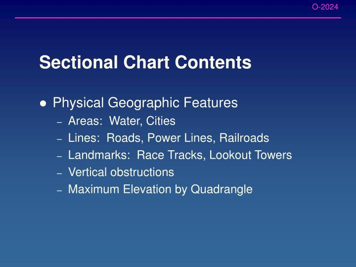 Sectional Chart Contents