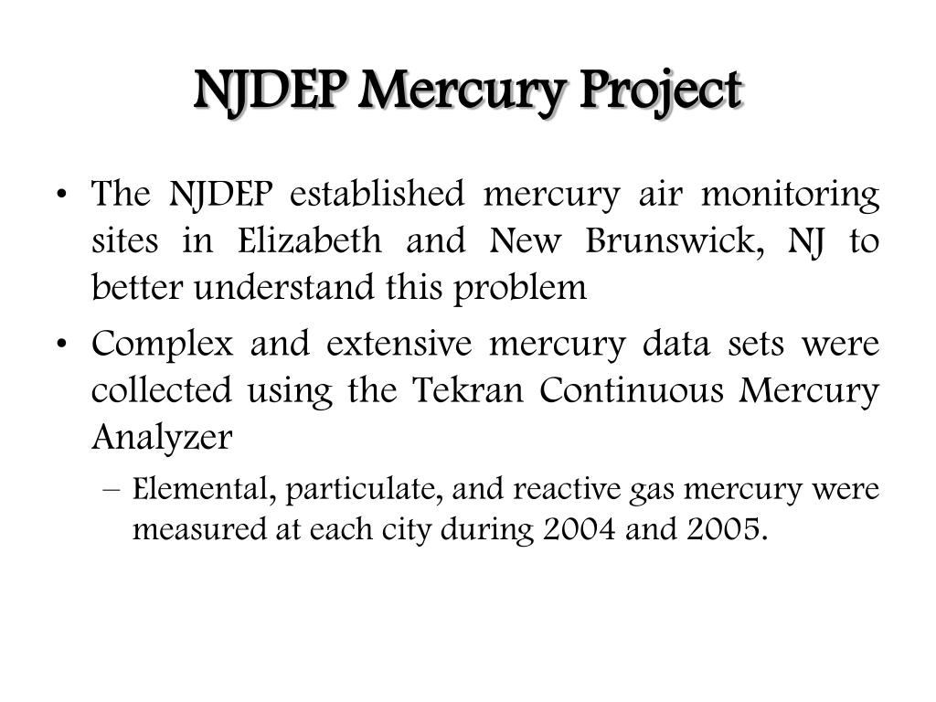 NJDEP Mercury Project