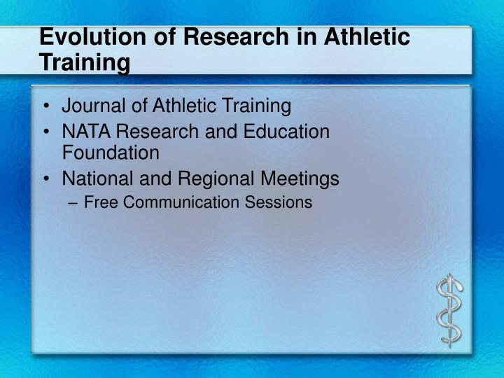 Evolution of Research in Athletic Training