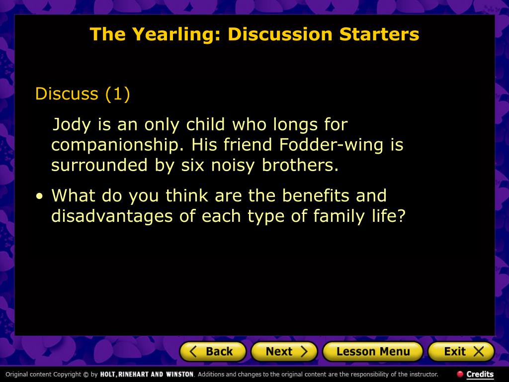 The Yearling: Discussion Starters