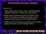 the yearling discussion starters19