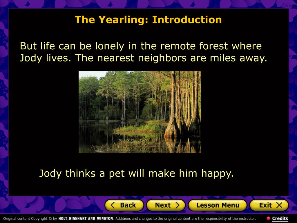 The Yearling: Introduction