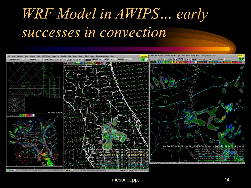 WRF Model in AWIPS… early successes in convection