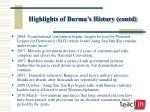 highlights of burma s history contd7