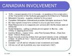 canadian involvement