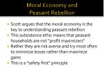 moral economy and peasant rebellion