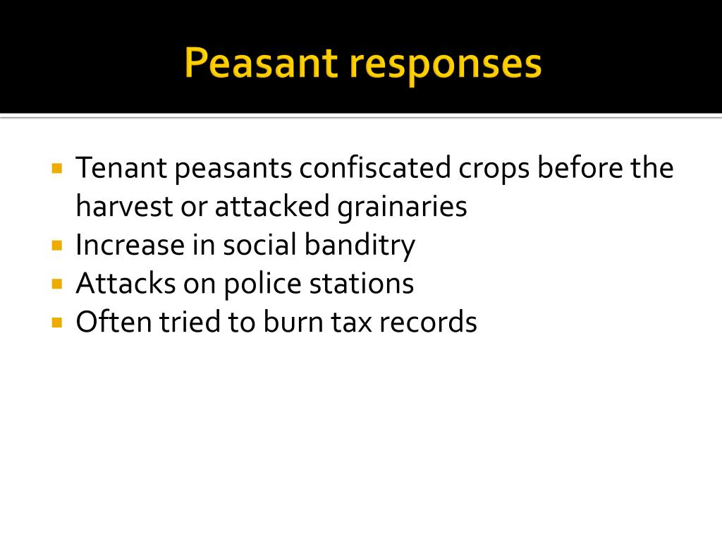 causes and responses of the peasant Stalin's forced famine in the stalin responded to their unyielding defiance by dictating a policy that would deliberately cause mass starvation and result in.