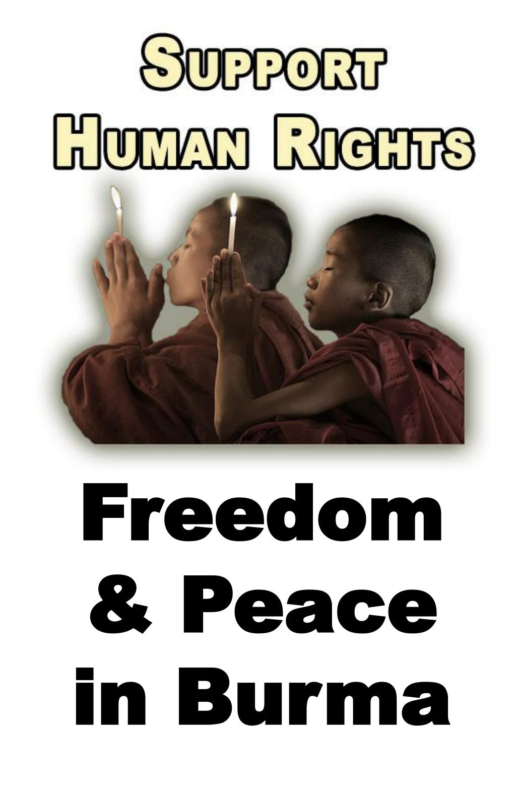 Freedom & Peace in Burma