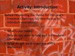 activity introduction
