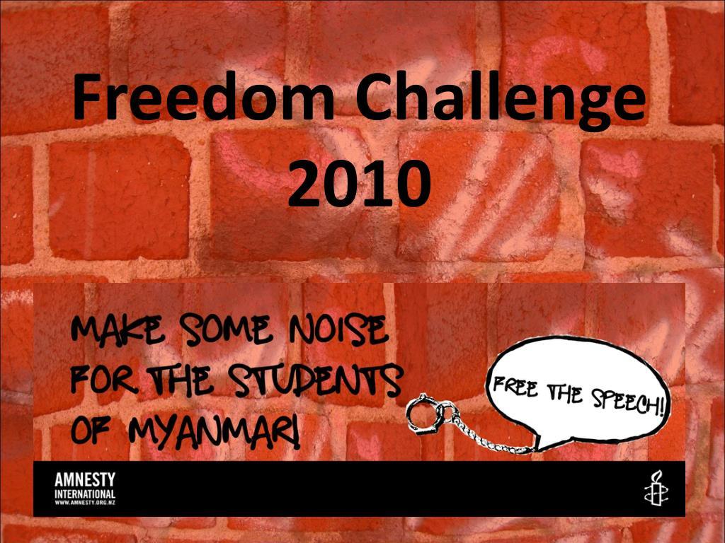 freedom challenge 2010 l.