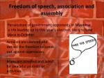 freedom of speech association and assembly