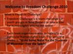 welcome to freedom challenge 2010