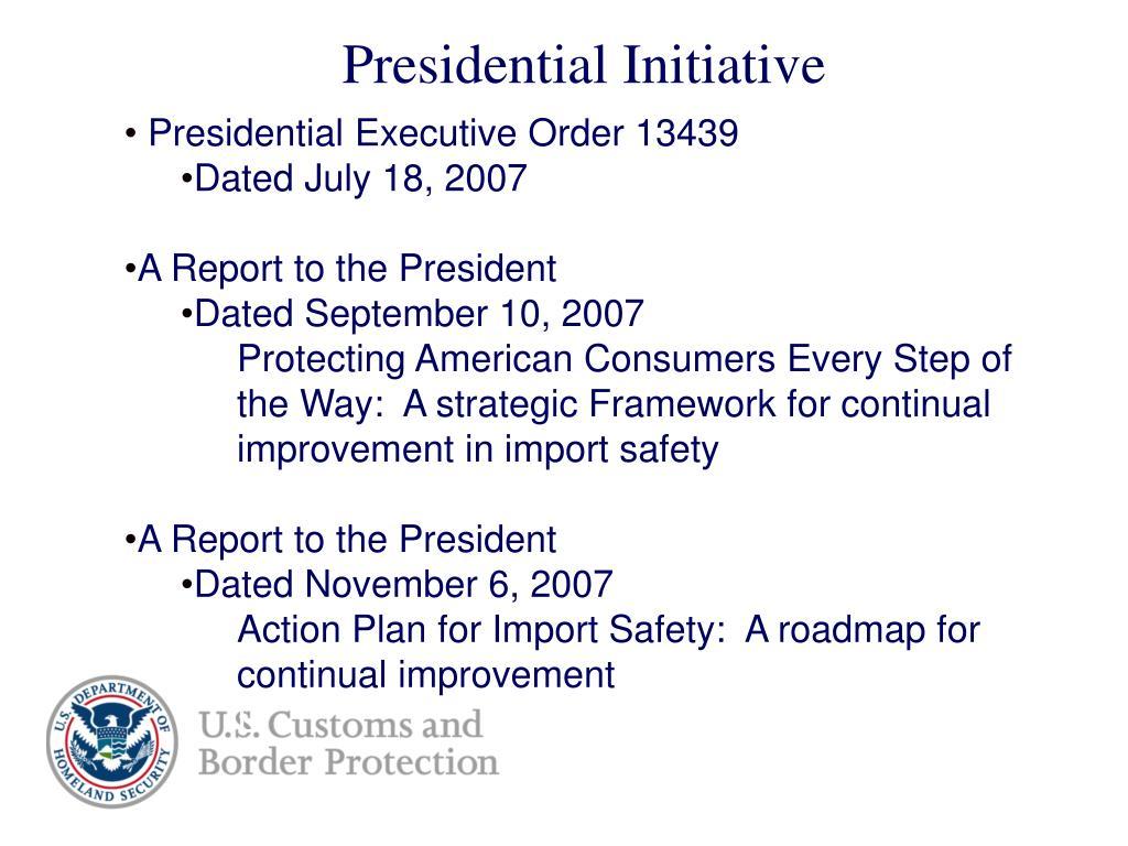 Presidential Initiative