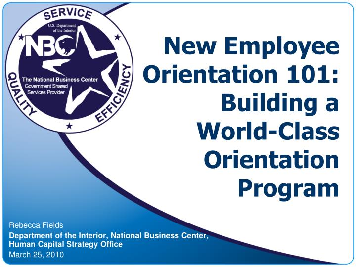 Basic Structure For New Employee Orientation Course Free