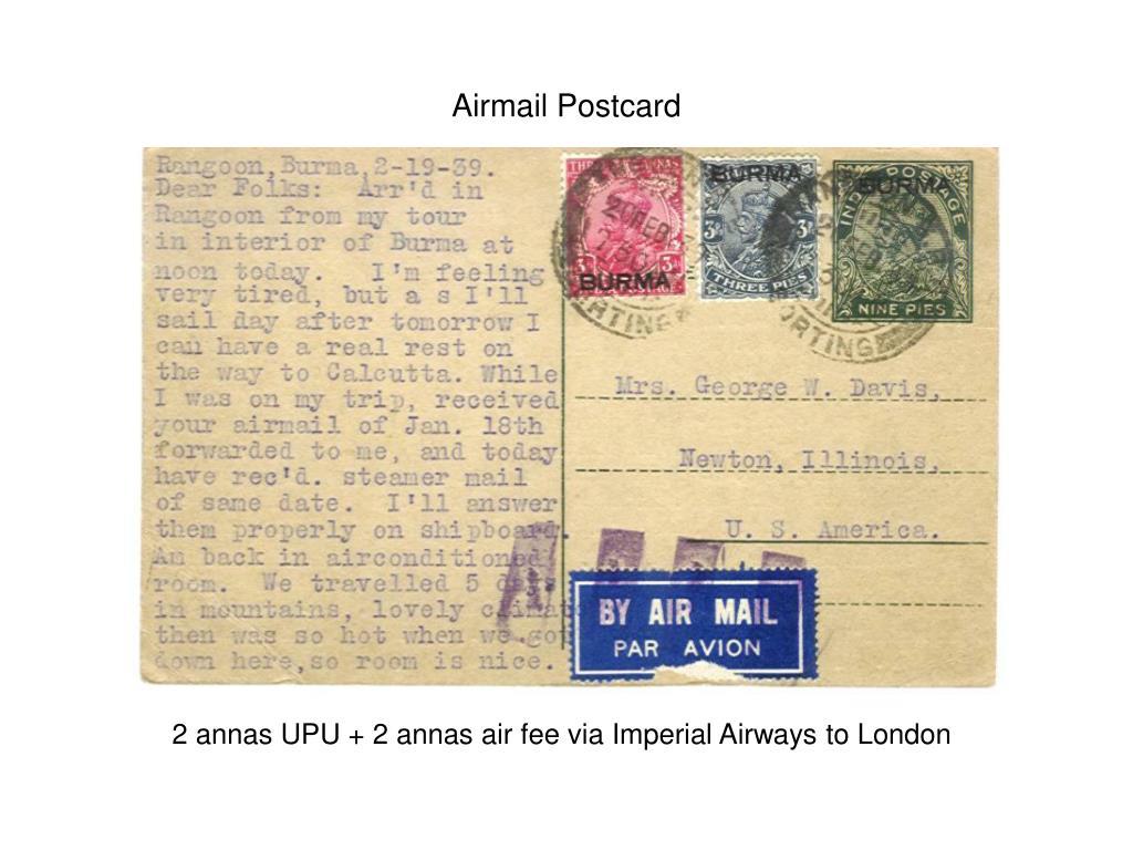 Airmail Postcard