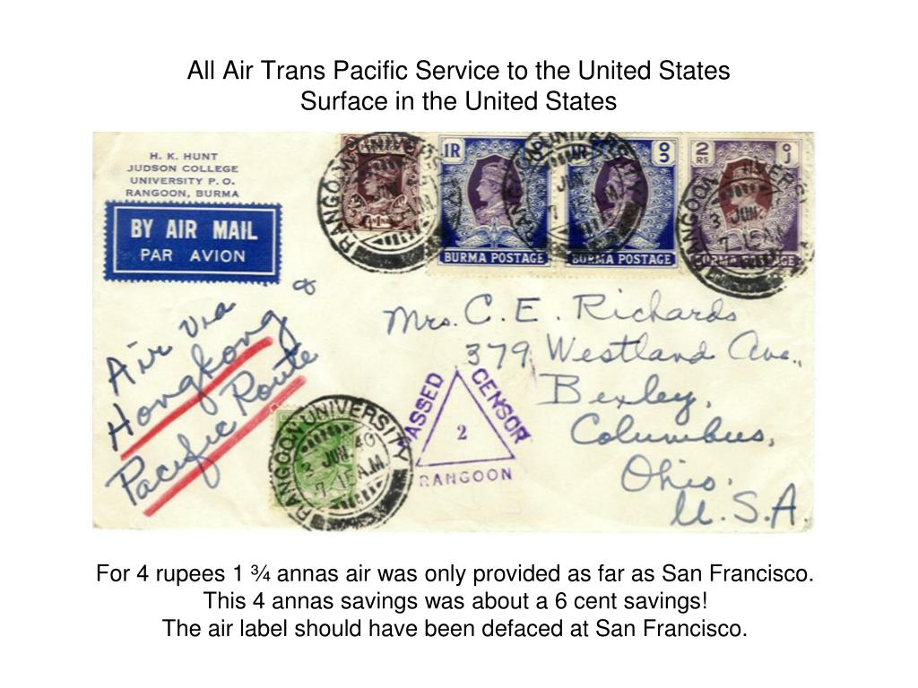 All Air Trans Pacific Service to the United States