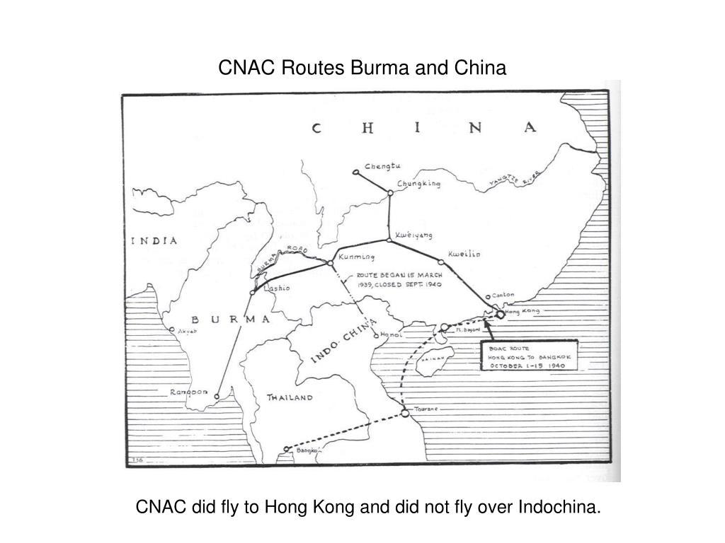 CNAC Routes Burma and China