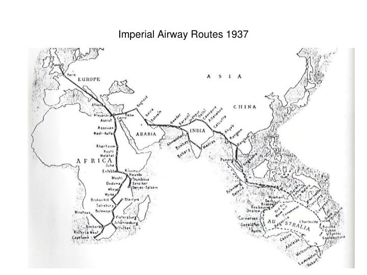 Imperial airway routes 1937