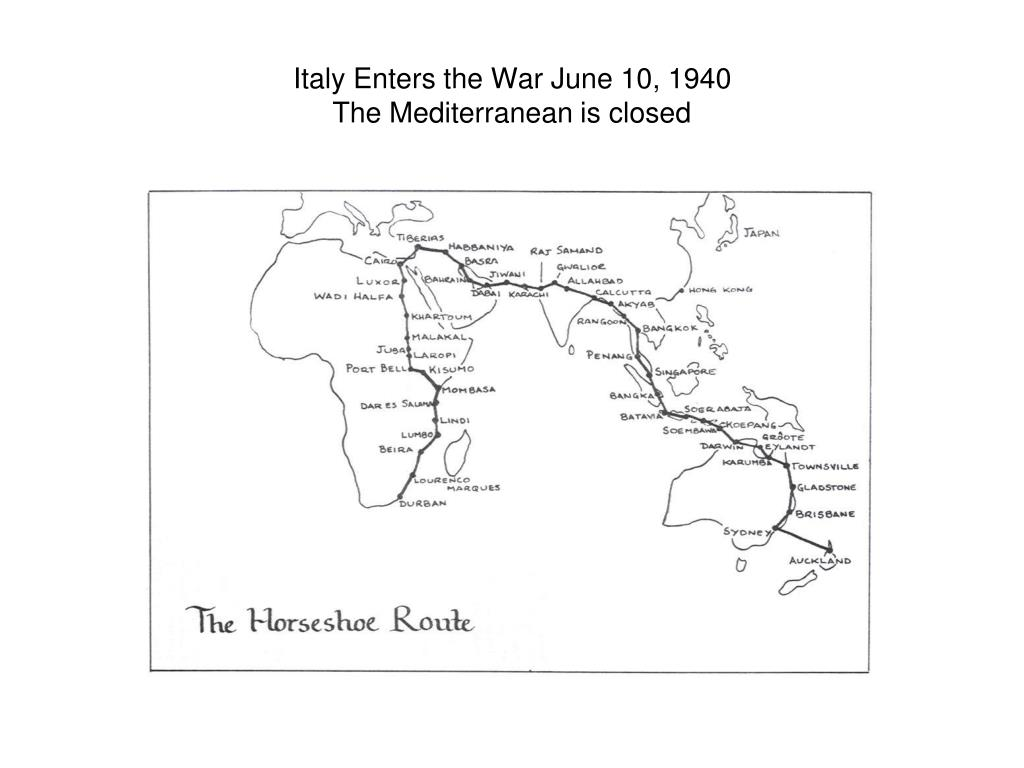 Italy Enters the War June 10, 1940