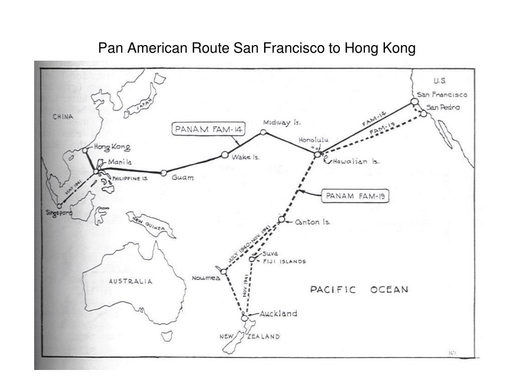 Pan American Route San Francisco to Hong Kong