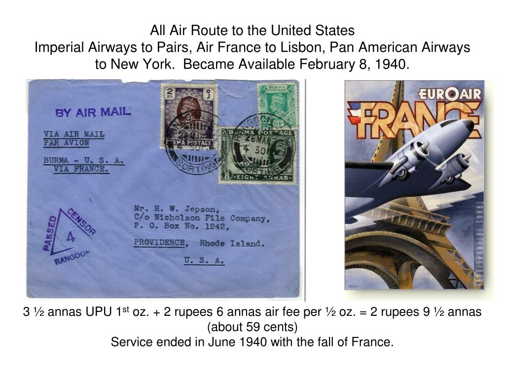 All Air Route to the United States