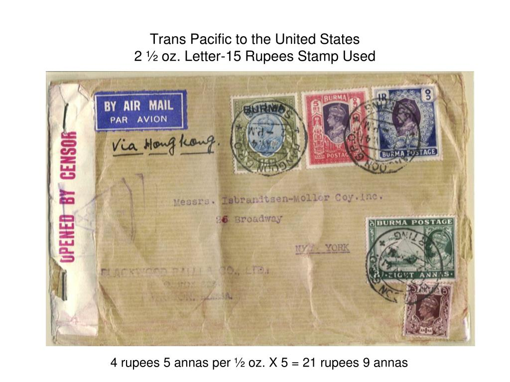 Trans Pacific to the United States