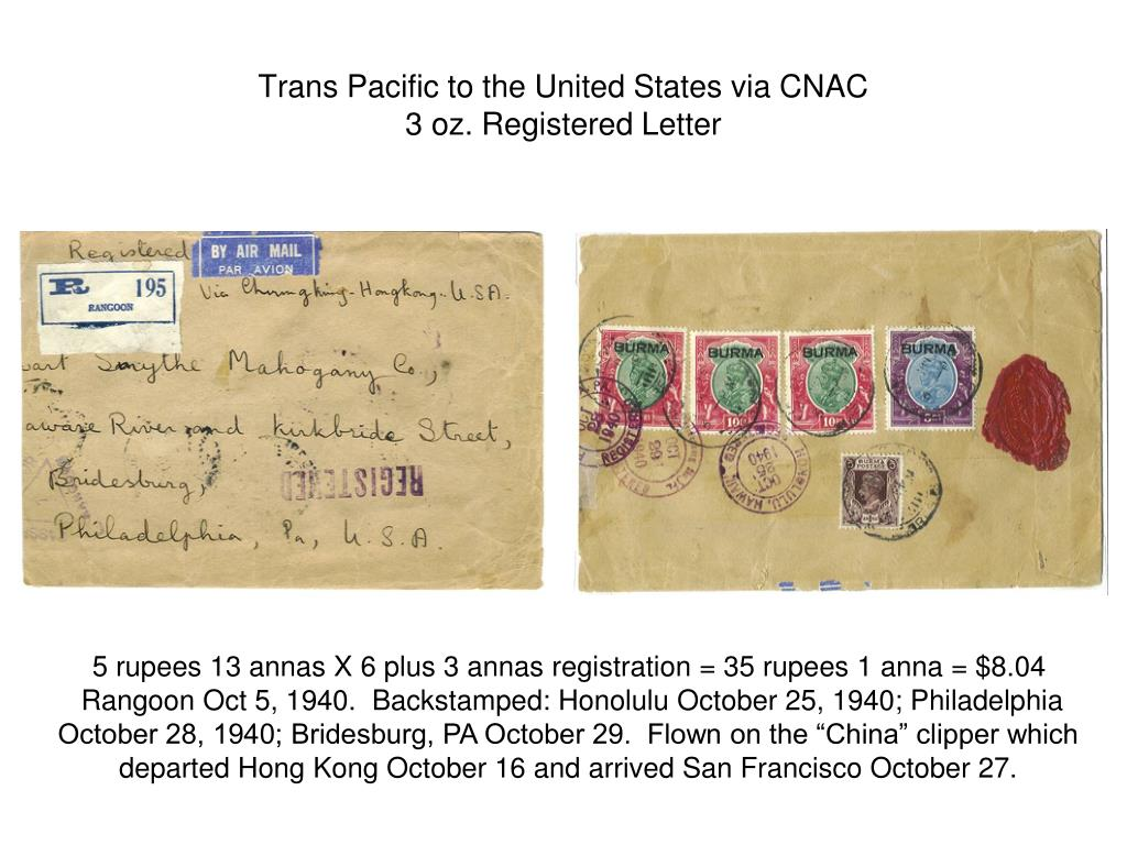 Trans Pacific to the United States via CNAC
