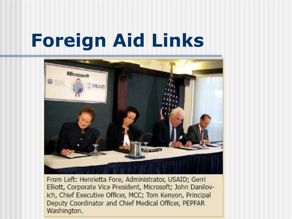 Foreign Aid Links